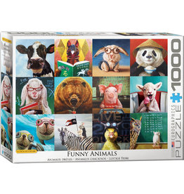 EUROGRAPHICS Funny Animals by L. Heffernan 1000PC