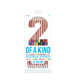 OOLY TWO OF A KIND COLORED PENCILS 12PK