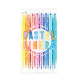 OOLY Pastel Liners Double Ended Markers Set of 8