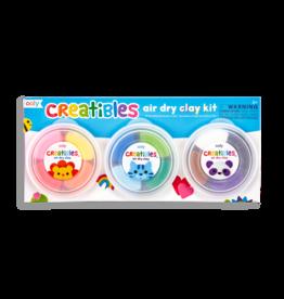 OOLY Creatibles DIY Air Dry Clay Kit - 15 PC Set
