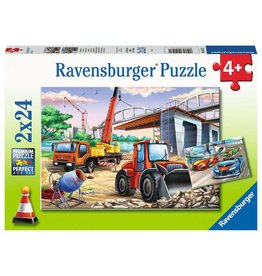RAVENSBURGER Construction & Cars 2x24 pc