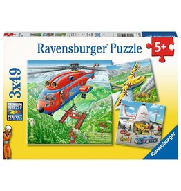 RAVENSBURGER Above The Clouds 3x49 pc