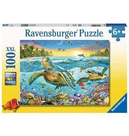 RAVENSBURGER SWIM WITH TURTLES 100PC