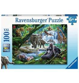 RAVENSBURGER JUNGLE ANIMALS 100PC