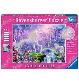 RAVENSBURGER GLITTER UNICORN 100PC