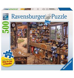 RAVENSBURGER Dad's Shed 500 pc Large Format Puzzle