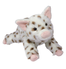 DOUGLAS CUDDLE TOYS Levi Brown Spotted Pig*