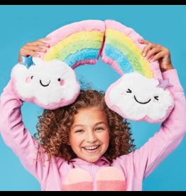 ISCREAM Happy Rainbow Furry Pillow
