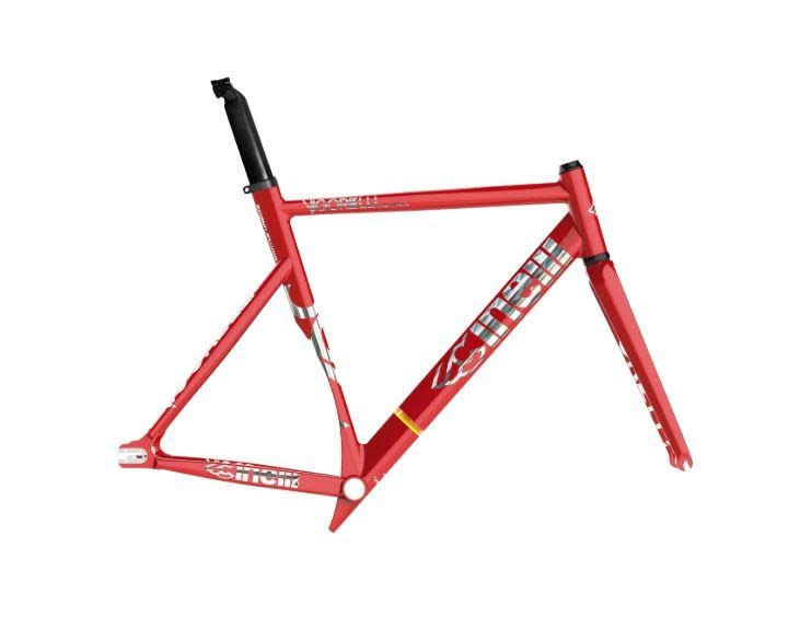 Cinelli Vigorelli Shark Frame Red