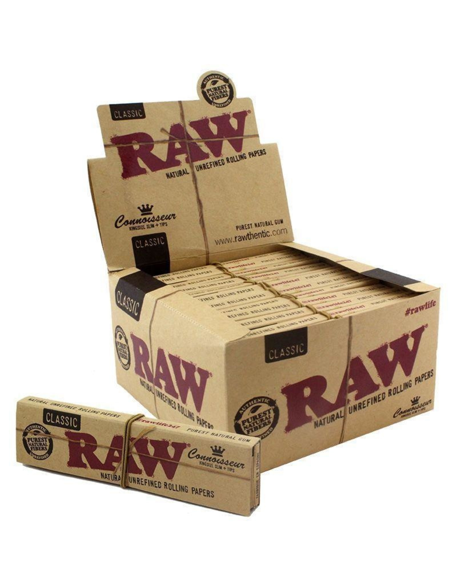 RAW RAW Connoisseur King Size Slim Paper w/ Tips