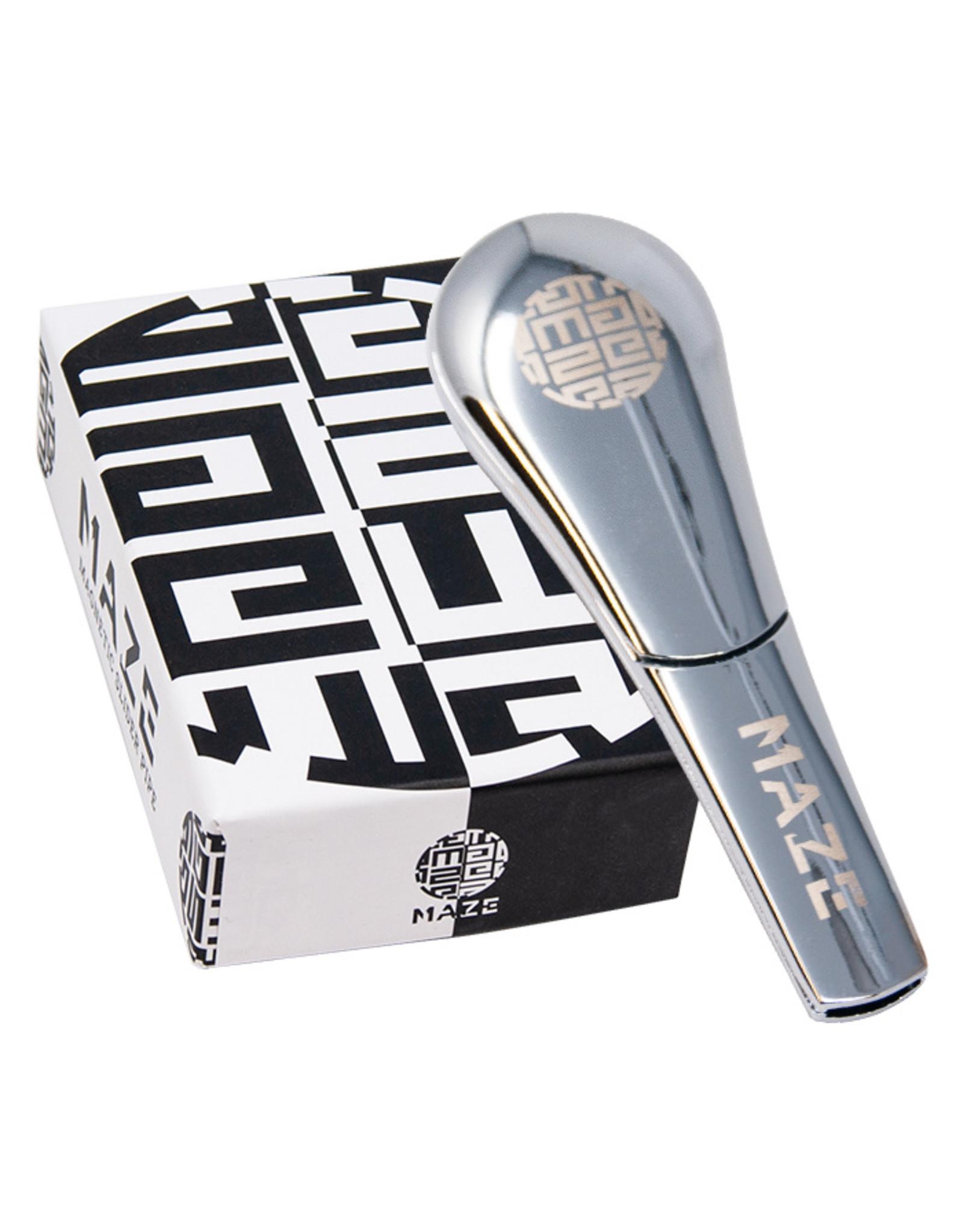 Silver Maze Maze Magnetic Slider Pipe