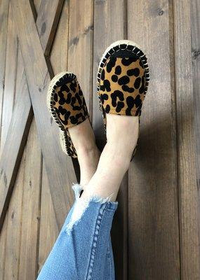 Leopard Slip On Flats