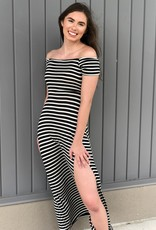 Striped Off The Shoulder Maxi