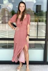 Tie Front Printed Midi Dress