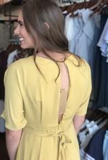 Dolman Sleeve Mustard Jumpsuit