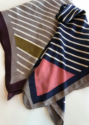 Striped Silky Scarf