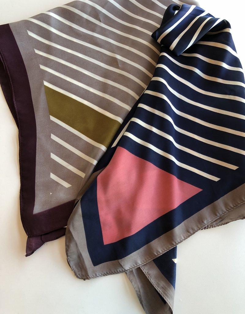 Striped Silky Scarf