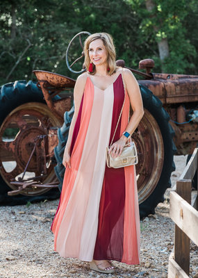 Multi Color Stripe Maxi