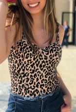 Bra-Top Leopard Bodysuit