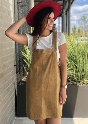 Corduroy Skirt Overalls