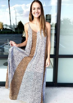 Multi Stripe Animal Print Maxi