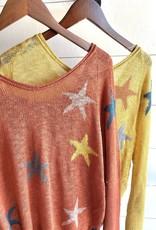 Knit Multi- Colored Star Pullover