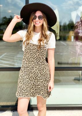Cheetah Overalls Skirt