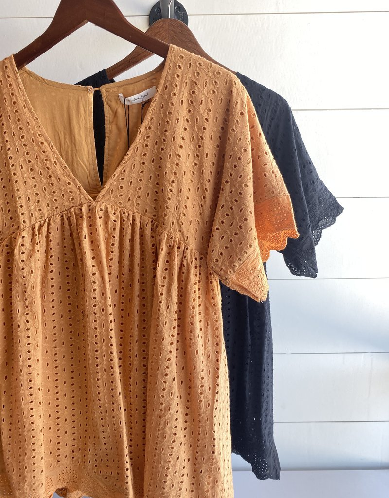 Crochet Deep Neck Romper Dress with Sleeves