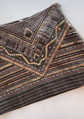 Beaded and Embroidered Mini Skirt