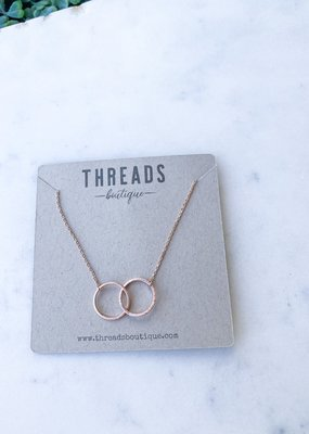 Two Ring Dainty Necklace
