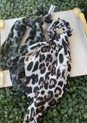 Cheetah Hair Scarf Scrunchie