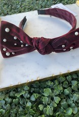 Pearl Beaded Bow Headband