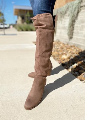 Over The Knee Heel Suede Boot