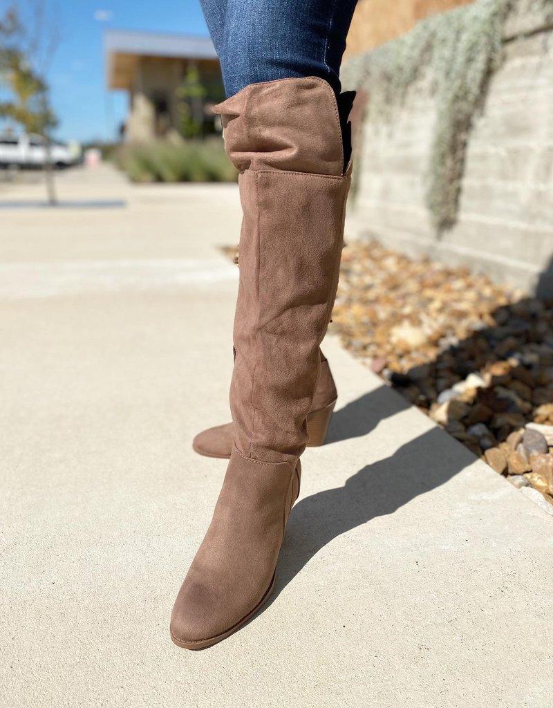 Over The Knee Heel Suede Boot