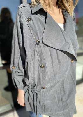 Textured Light Button Up Breasted Jacket