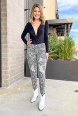 Leopard Distressed Skinny Jeans
