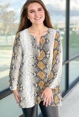 Long Sleeve Tunic with Button