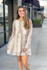 Scoop Neck and Tie Back Babydoll Dress