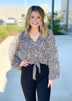 Hot Nights Spotted Crop Blouse