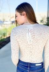 Deep V Lace Wrap Bodysuit
