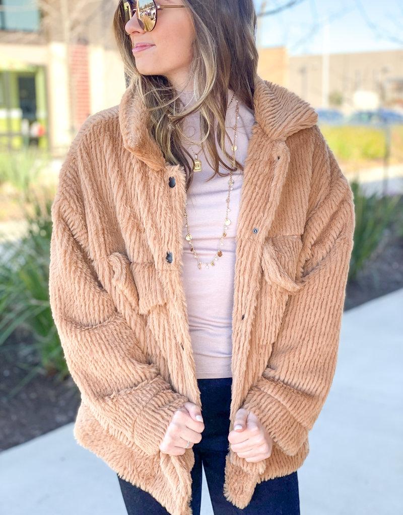 Ribbed Teddy Coat