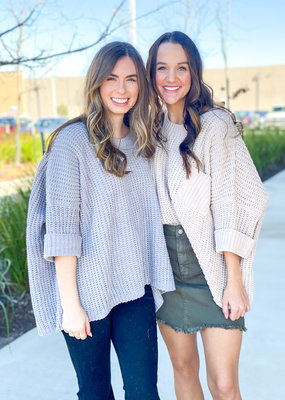 Chunky Crop Sweater with Pocket