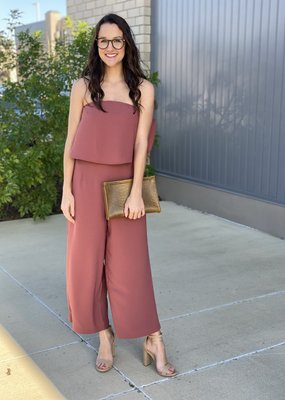 Strapless Layered Jumpsuit