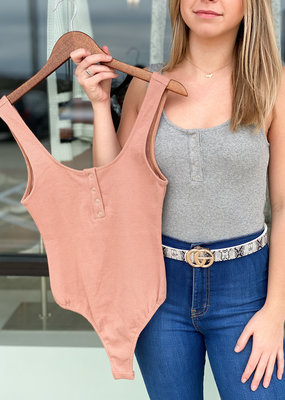 Jodie Button Front Bodysuit