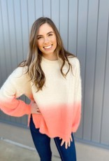 Ombre Fuzzy Knit Sweater