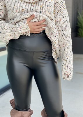 High Waist Faux Leather Legging