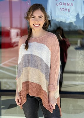 Colorblock One Size Knit Sweater