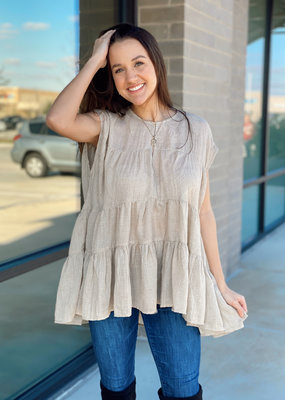 Tiered Detail Babydoll Blouse
