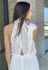 High Neck Fitted Skirt Dress
