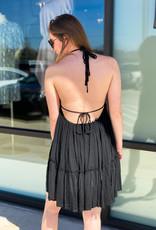 Layered Deep Back Mini Dress